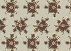Feather N Stitch by Sarah Watts for Blend 110.101.06.2 Medallions Tan