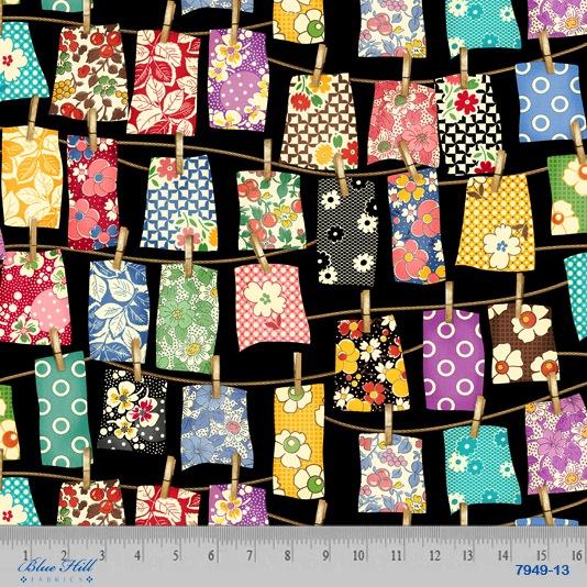 Feedsack 111 by Sara Morgan Circa 1930 for Blue Hill Fabrics 7949-13