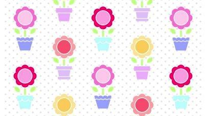 Flower Pot Garden by Sunrise Studio for Lakehouse Fabrics - Flower Pots LH14028 Multi