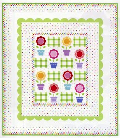 Flower Pot Garden Quilt Pattern by Holly Holderman from Lakehouse Drygoods