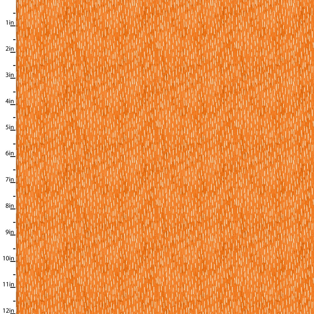 Forest Friends by 3wishes Fabrics - 11662 - Cream Dashes in Orange