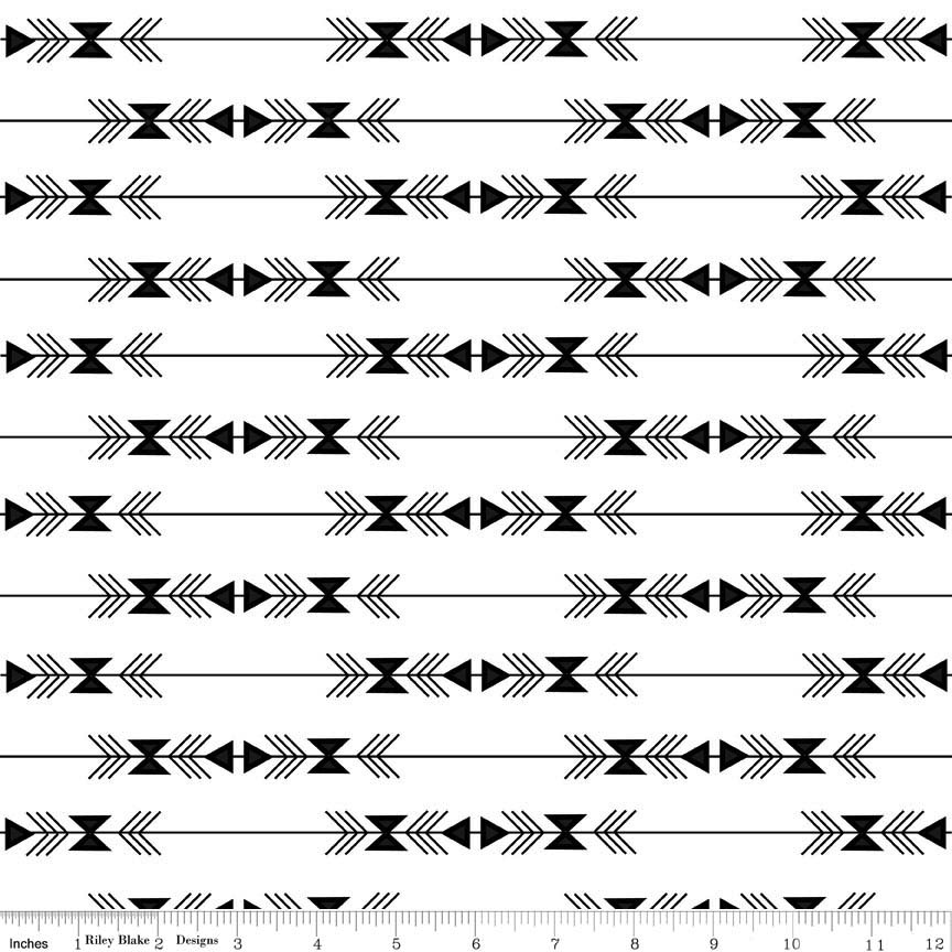Four Corners by Simple Simon & Company for Riley Blake Designs - C4872 Stripe White