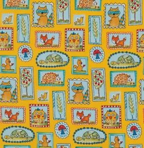 Fox Playground by Dena Designs for Free Spriit Fabrics - PWDF188 Yellow