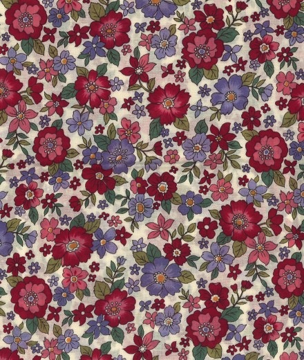 Frou-Frou Florals by Paritys Fabrics - 2800-14 - Rubis Eclatant Large Floral Lawn