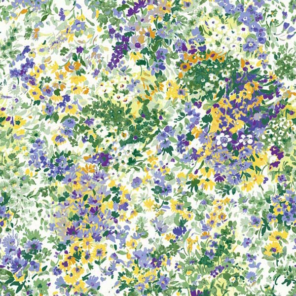Garden Delights by Gray Sky Studio for In The Beginning Fabrics - 3GSE-3 - Impressionist Floral in Purple/Green