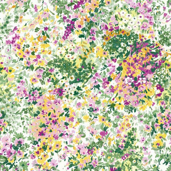 Garden Delights by Gray Sky Studio for In The Beginning Fabrics - 3GSE-4 - Impressionist Floral in Purple/Peach