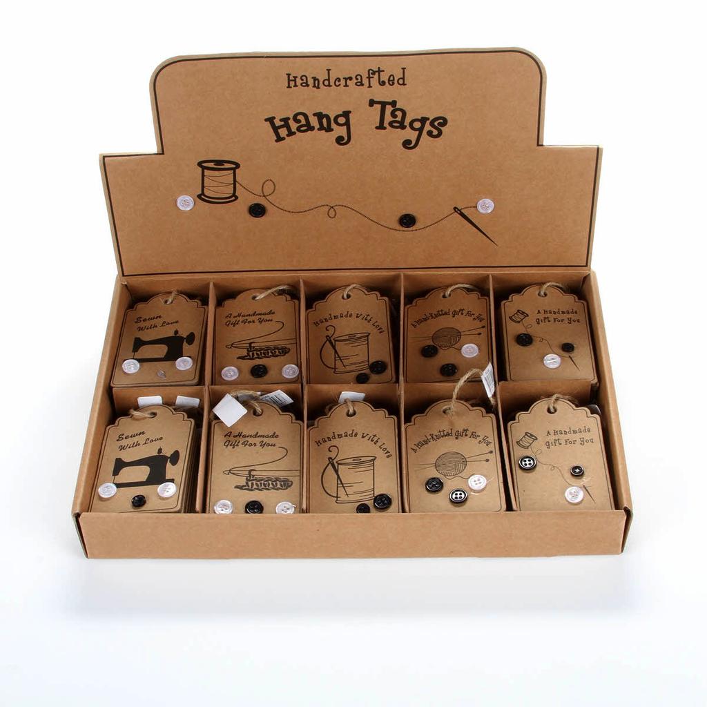 Hang Tags - Novelty Sewing Gift Tags - Five Designs