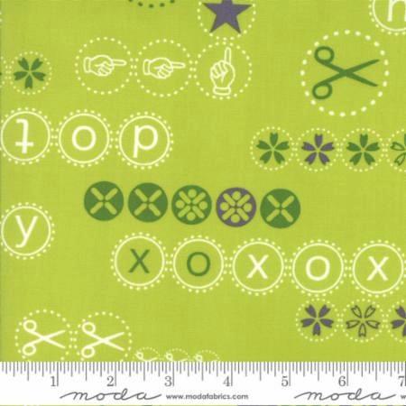 Hey Dot by Zen Chic for Moda Fabrics - 1601-15 - Hey Dot in Light Green