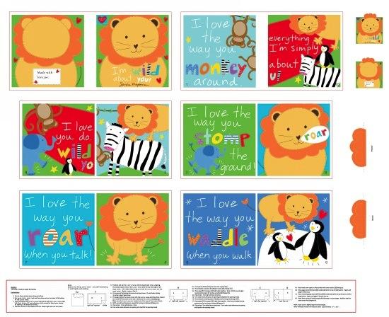 I'm Wild About You Book Panel by Sandra Magsamen for Studio e Fabrics - 90cm (36ins)