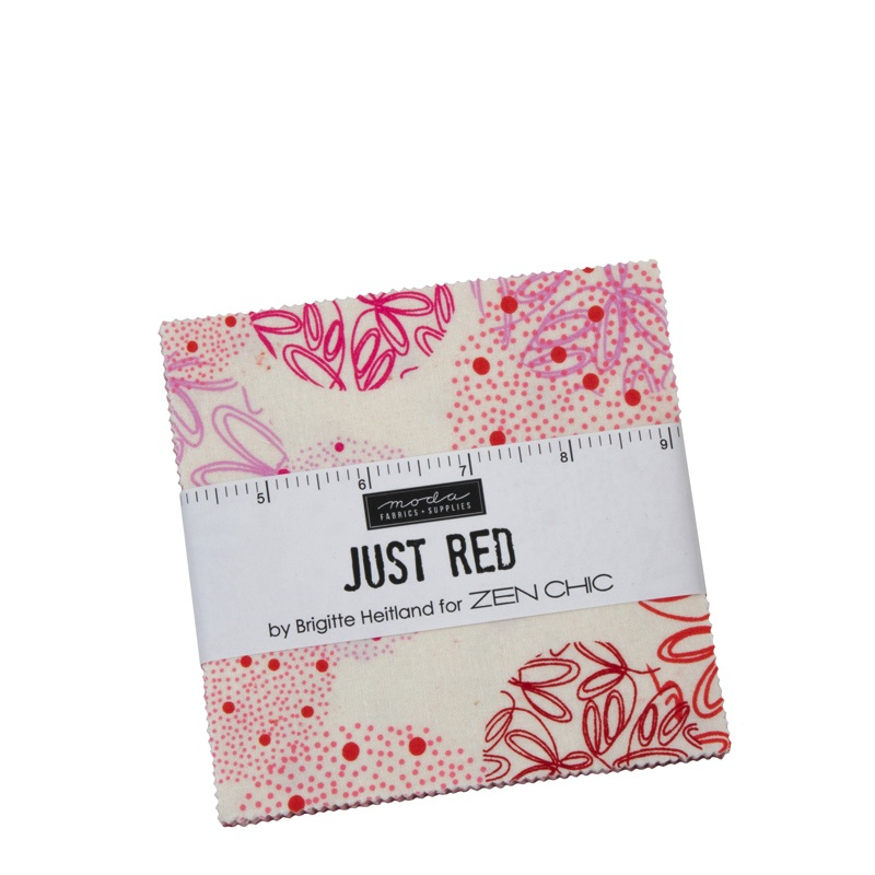 Just Red by Zen Chic for Moda Fabrics - 1700PP - Charm Pack 42 Pce Assorted