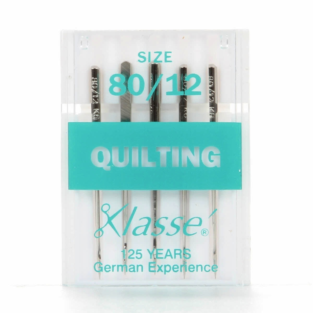Klasse' Machine Needles Quilting Size 80/12