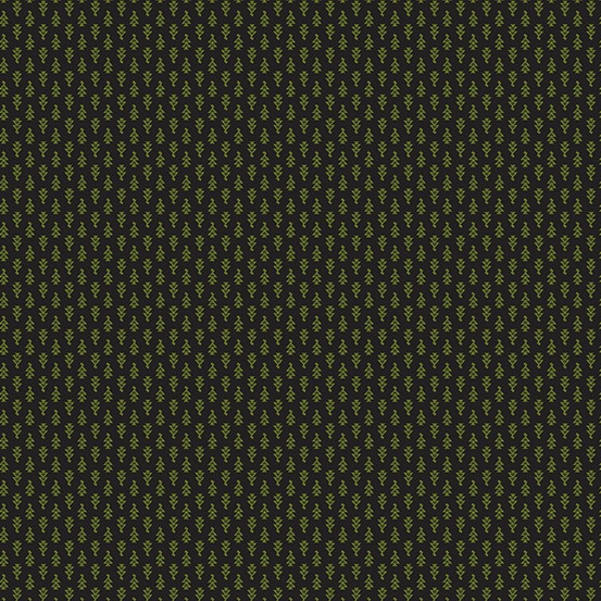 Lampblack 2017 by Kathy Hall for Andover Fabrics - A8481K - Green Arrowheads in Black