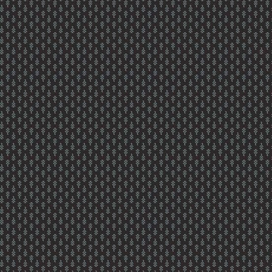 Lampblack 2017 by Kathy Hall for Andover Fabrics - A8481K1 - Blue Arrowheads in Black