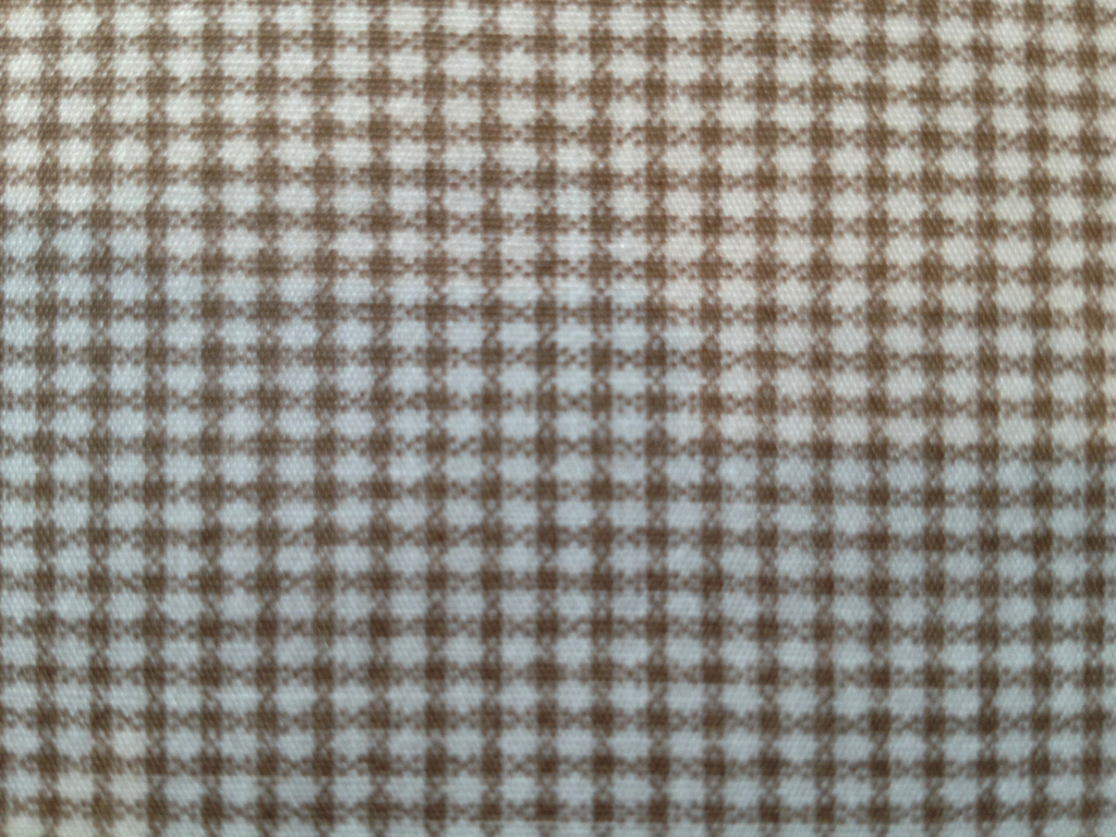 Micro Checks and Pin Dots for A Day in the Country Micro Check Donkey Brown Check with White Background