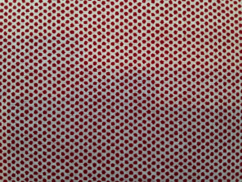 Micro Checks and Pin Dots for A Day in the Country Pin Dot Cherry Red Dot with White Background