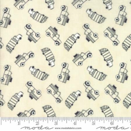Mighty Machines by Lydia Nelson for Moda Fabrics - 49022-21 - Truck Toss in Tonal Creamy/Natural