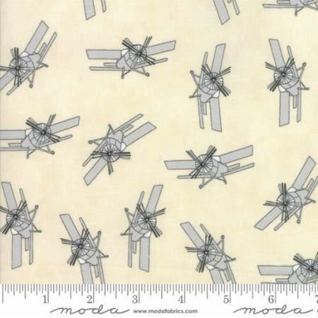 Mighty Machines by Lydia Nelson for Moda Fabrics - 49023-21 - Planes in Creamy Misty/Grey