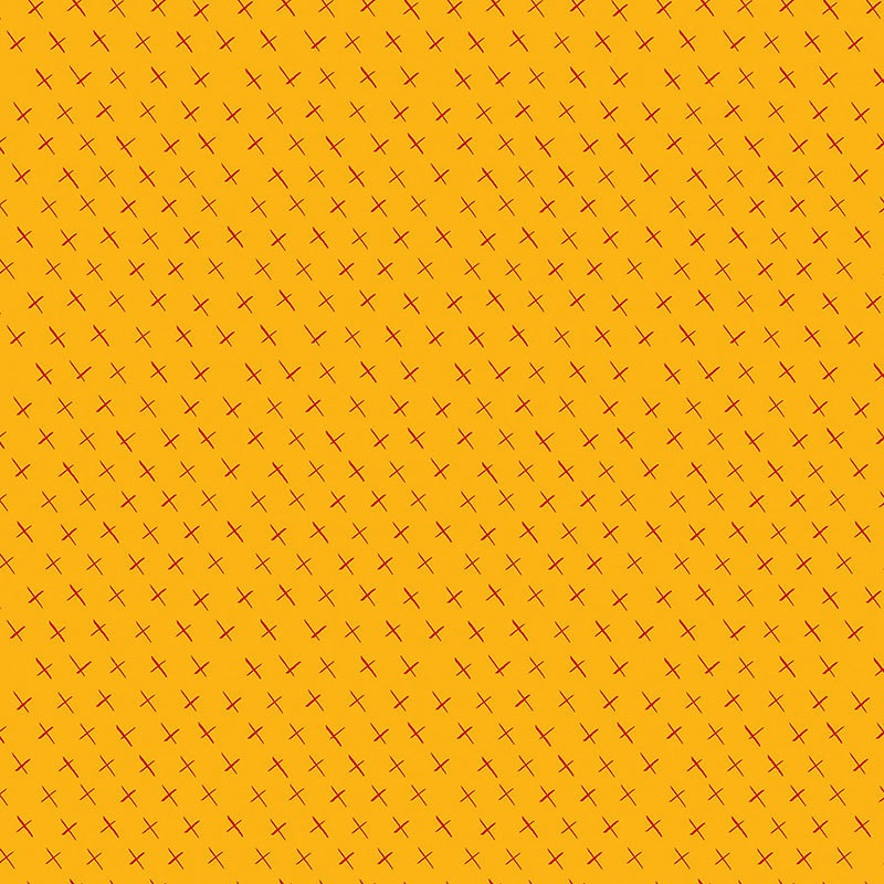 Modern Marks by Christa Watson for Contempo Studio - 4664-33 - Crossmarks in Yellow