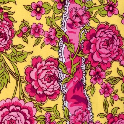 Neptune & the Mermaid by Tokyo Milk for Free Spirit Fabrics - PWTM004.8 - Anthemoessa in Yellow