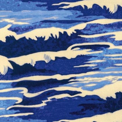 Neptune & the Mermaid by Tokyo Milk for Free Spirit Fabrics - PWTM010.8 - Oceanus in Navy