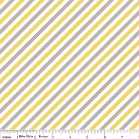 Oh Boy by Lori Whitlock for Riley Blake Designs - Stripe Yellow - C3304 Yellow