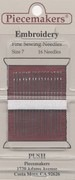 Piecemakers Size E7 Embroidery Sewing Needles