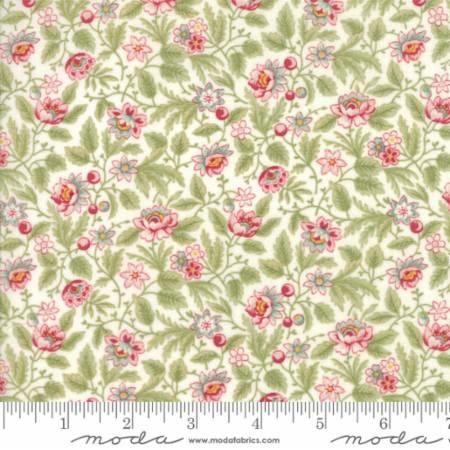Poetry Prints by 3 Sisters for Moda Fabrics - 44134-11 - Flowerbed in Porcelain/Natural