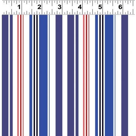 Quarter Deck by Tony Fernandes for Clothworks - Y2363-31 - Nautical Stripe/Blue Red