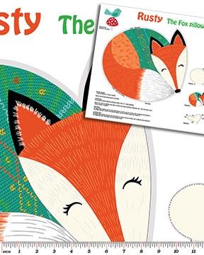 Rusty and Friends by Mitzi Powers for Benartex Fabrics - 6009-99 - The Fox Panel 60cm