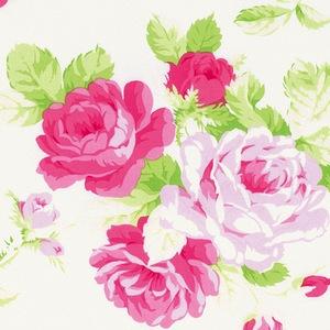 Sadies Dance Card by Tanya Whelan for Free Spirit Fabrics - PWTW123 - Big Rose in White