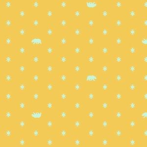 Spirit Animal by Tula Pink for Free Spirit Fabrics - PWTP101 - Bear Hug in Sunkissed