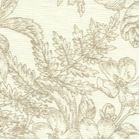 Staples V by Marsha McCloskey for Clothworks - Y1953-64 - Ferns & Florals in Taupe