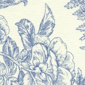 Staples V by Marsha McCloskey for Clothworks - Y1953-88 - Ferns & Florals in Blue
