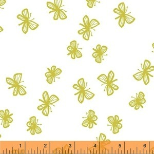 Stella by Lotta Jansdotter for Windham Fabrics - Faril in Citrus Lime - 40690-2