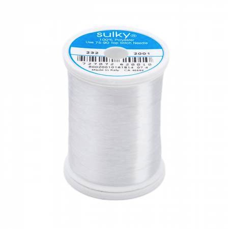Sulky Invisible Polyester Thread .004mm 2000M - Monofilament Polyester Clear 232-2001