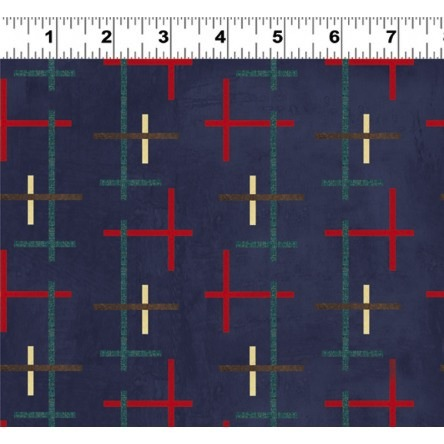 Summerland by Skipping Stones Studio for Clothworks  - Y1470-96 Navy
