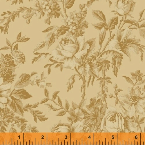 The Golden Age by Nancy Gere for Windham Fabrics - 41234-1 - Toile Cream