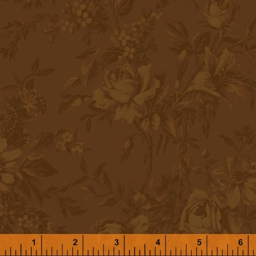 The Golden Age by Nancy Gere for Windham Fabrics - 41234-2 - Toile Brown