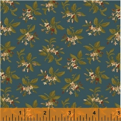 The Golden Age by Nancy Gere for Windham Fabrics - 41235-3 - Floral Bouquet Teal