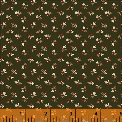 The Golden Age by Nancy Gere for Windham Fabrics - 41236-5 - Floral Bud Green