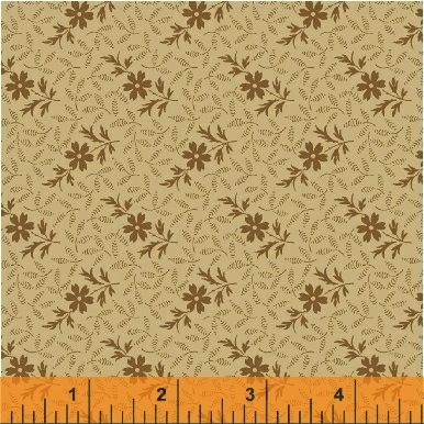 The Golden Age by Nancy Gere for Windham Fabrics - 41237-1 - Floral Sprig Cream