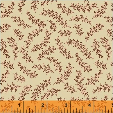 The Golden Age by Nancy Gere for Windham Fabrics - 41239-6 - Fern Wine on Cream