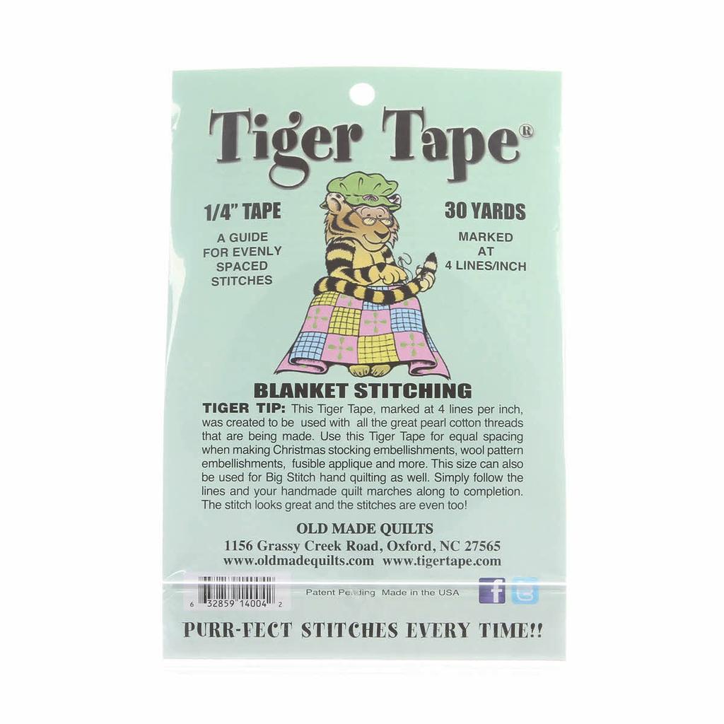 Tiger Tape 1/4in -  4 Marks per inch