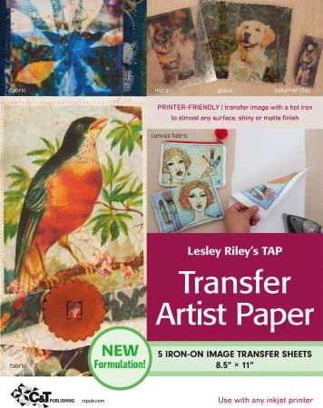 Transfer Artist Paper by Lesley Riley - 5pk 8 1/2in x 11in