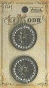 Vintage Antique Silver 1 Button