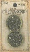 Vintage Filigree Antique Gold 1 Button