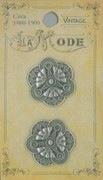 Vintage Filigree Antique Silver 7/8 Button