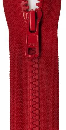 Vision 1-Way Separating Zipper 18in - Red