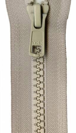 Vislon 1-Way Separating Zipper 18in - Bone