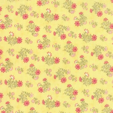 Whitewashed Cottage by 3 Sisters for Moda Fabrics - Floral Daisy Sprays Yellow 44066-15